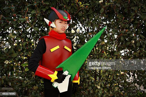 Fan Patrick Wong poses during The SMASH Sydney Manga and Anime Show at Rosehill Gardens on August 8 2015 in Sydney Australia