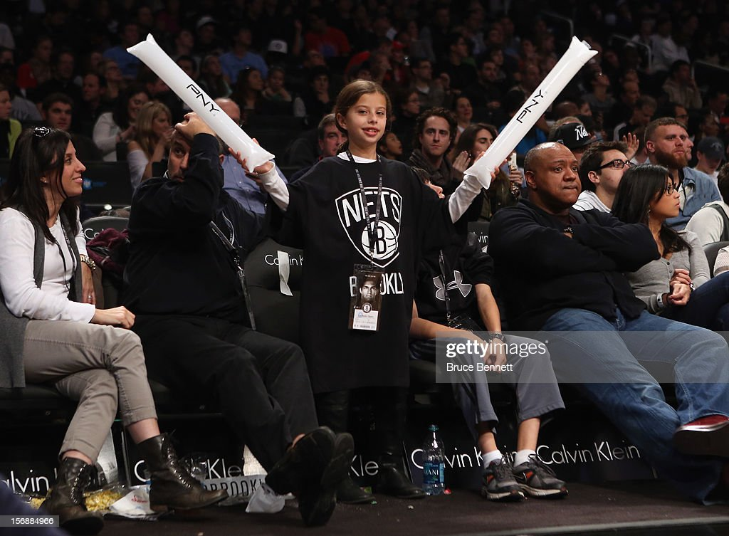 A fan routes for the Brooklyn Nets in the game against the Los Angeles Clippers at the Barclays Center on November 23, 2012 in the Brooklyn borough of New York City.