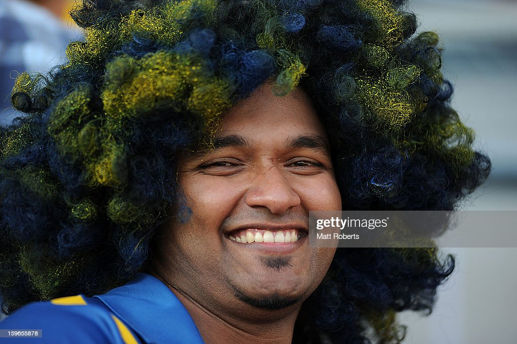 Fan shows his support during game three of the Commonwealth Bank One Day International Series between Australia and Sri Lanka at The Gabba on January 18, 2013 in Brisbane, Australia.
