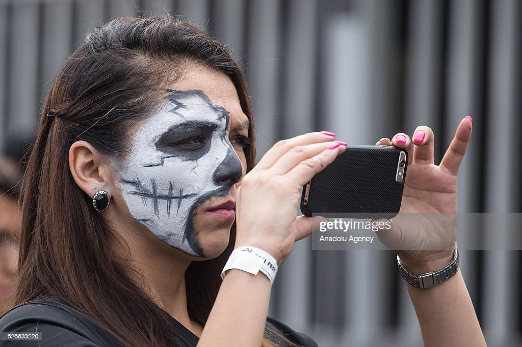 A fan takes a picture during The Oakland Raiders Fan Fest in Mexico City, Mexico on April 30, 2016. Raiders and HoustonTexans will play at the Azteca Stadium next Nov 21, will also be the first Monday Night NFL game played outside the U.S.