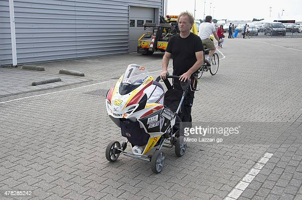 Fan walk in paddock during the MotoGP Netherlands Preview at on June 24 2015 in Assen Netherlands