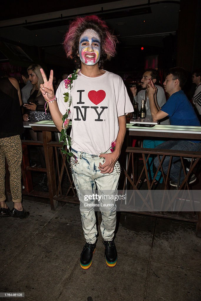 A fan wearing makeup in support of Lady Gaga attends a drag show with the cast of 'RuPaul's Drag Race' at Micky's on August 12, 2013 in Los Angeles, California.
