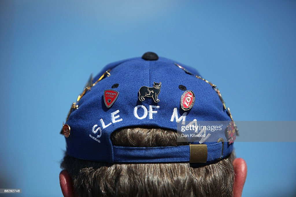 A fan wears an Isle of Man Hat during the superbike TT race in Douglas on June 8, 2009, Isle Of Man, United Kingdom. The annual TT race is one of the highlights of the motorbike racing calender with fans travelling from around the globe to watch riders compete in the 37 and three quarter mile lap exceeding speeds of 200mph.