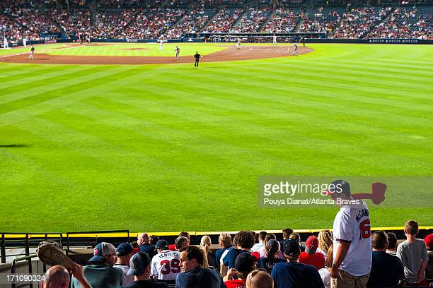 A fan with a tomahawk during the game against the Minnesota Twins at Turner Field in Atlanta on May 20 2013 The Braves won 51