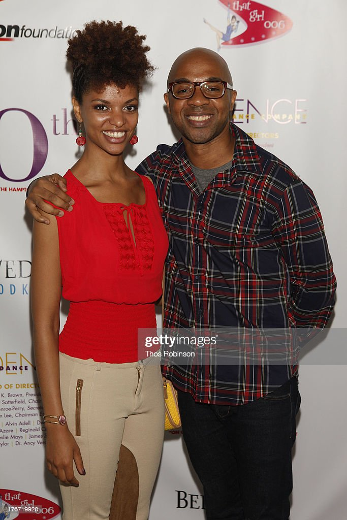 Fana Tesfagiorgis and Matthew Rushing, Alvin Ailey dancers attend Evidence, A Dance Company Hosts 10th Annual 'On Our Toes'... In The Hamptons Summer Benefit at The Hayground School on August 17, 2013 in Bridgehampton, New York.