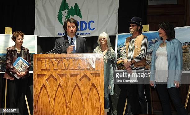 Fances Beinecke President NRDC Singers/Songwriters Emmylou Harris Big Kenny Alpin and Kathy Mattea attend while Allen Hershkowitz PhD Senior...
