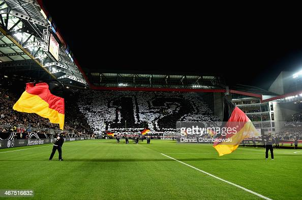 Fanclub Nationalmannschaft promotion prior to kickoff of the International Friendly match between Germany and Australia at FritzWalterStadion on...