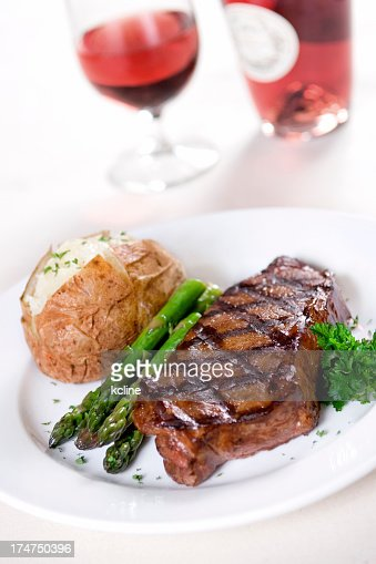 Steak Dinner Stock Photos and Pictures | Getty Images