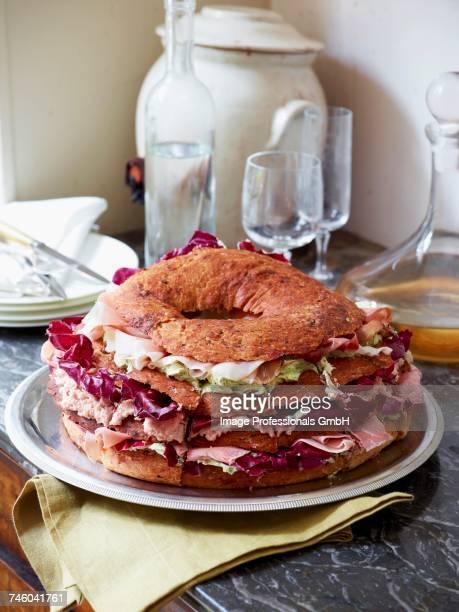 Fancy ham sandwiches