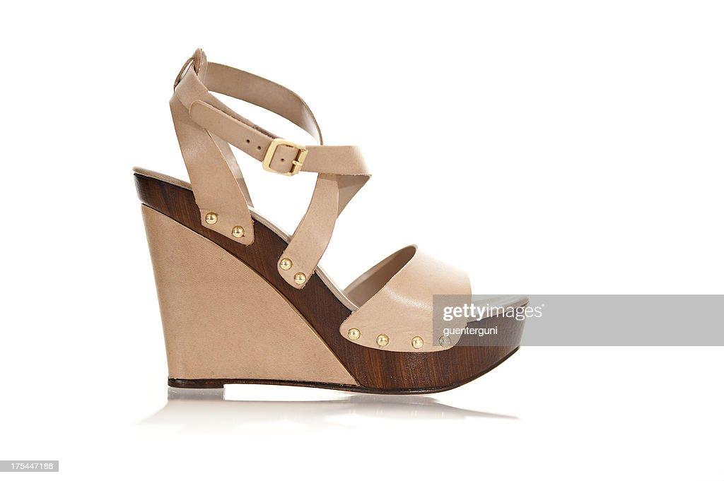 Fancy high heels in fashionable wedge style
