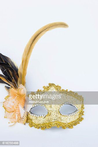 Fancy mask,  accessories obscuring the face of the party. : Foto de stock