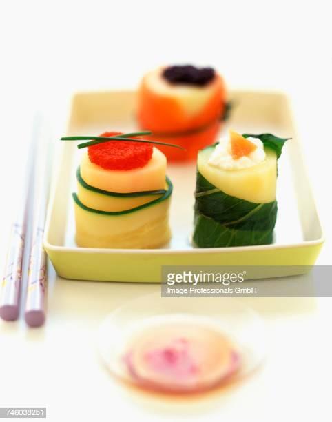 Fancy potato sushi