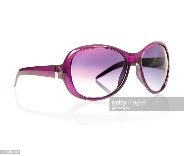 なサングラスで、パープル