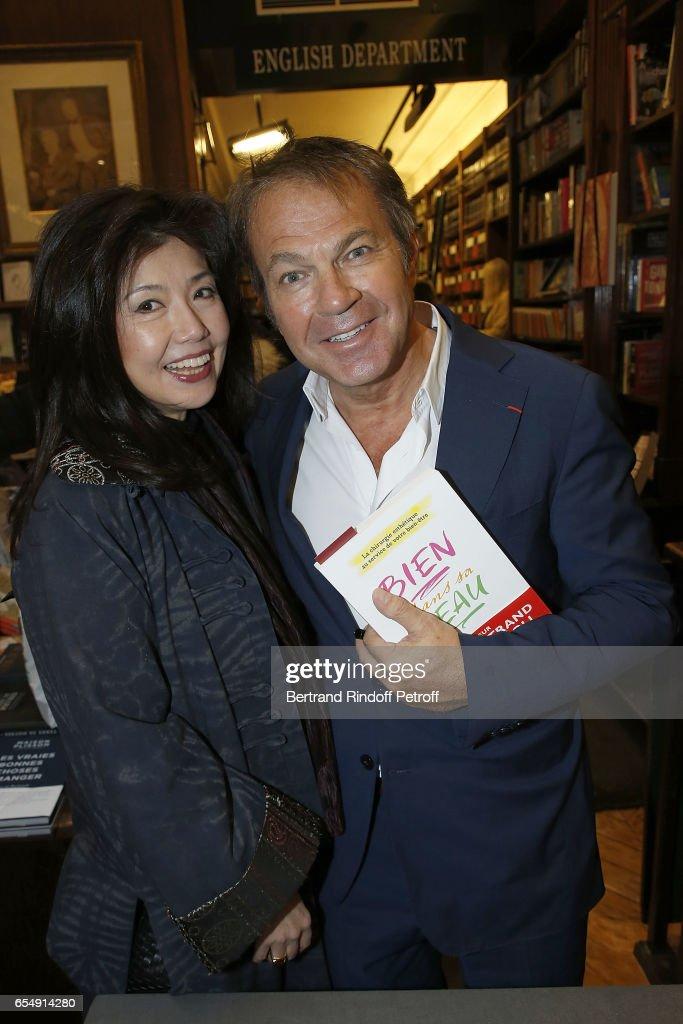 FanFan Li and Bertrand Matteoli attend Bertrand Matteoli Signing Book 'Bien Dans Sa Peau' at Librairie Galignali on March 18, 2017 in Paris, France.