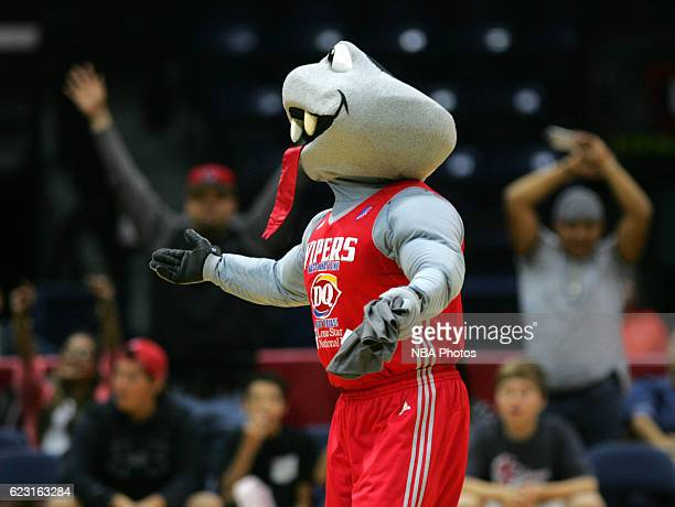 Fang the mascot of the Rio Grande Valley Vipers during a break in action against the Reno Bighorns at the State Farm Arena November 13 2016 in...