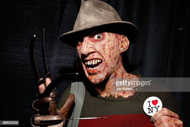 Fangoria convention visitor dressed as Freddy Krueger attends Fangoria's New York Weekend of Horrors 2009 at The Javits Center on June 6 2009 in New...