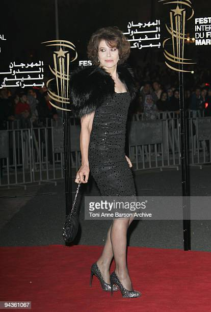 Fanny Ardant attends the Closing Ceremony at the Mansour Hotel Palais des Congres on December 12 2009 in Marrakech Morocco