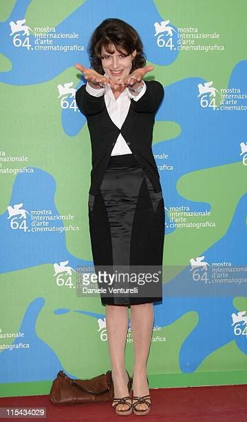 Fanny Ardant attends the 'L'ora di Punta' Photocall during Day 9 of the 64th Annual Venice Film Festival on September 6 2007 in Venice Italy