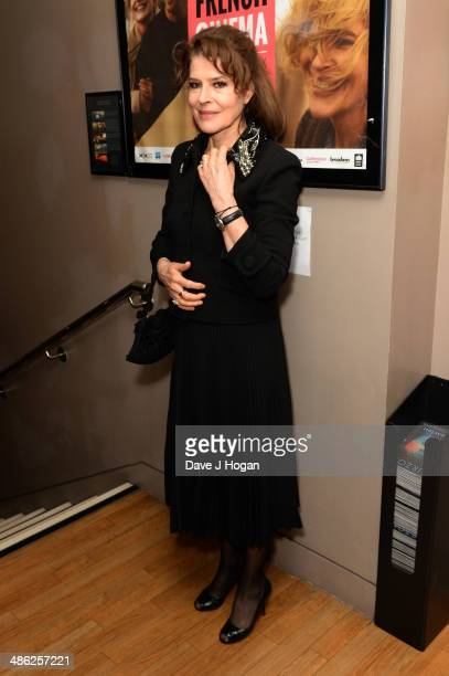 Fanny Ardant attends the RendezVous With French Cinema Opening Night Premiere for 'Bright Days Ahead' at The Curzon Soho on April 23 2014 in London...