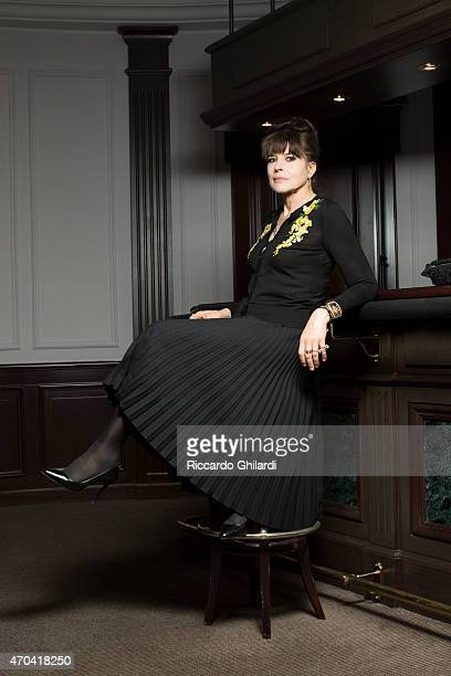 Fanny Ardant is photographed for Self Assignment on April 10 2015 in Rome Italy