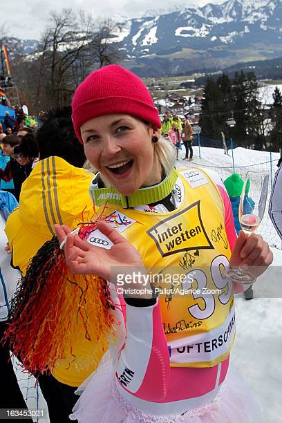 Fanny Chmelar of Germany competes during the Audi FIS Alpine Ski World Cup Women's Slalom on March 10 2013 in Ofterschwang Germany