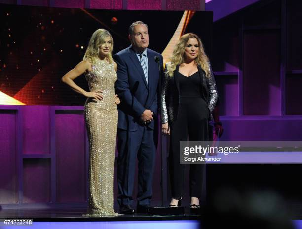 Fanny Lu Andres Cantor and Ednita Nazario onstage at the Billboard Latin Music Awards at Watsco Center on April 27 2017 in Coral Gables Florida