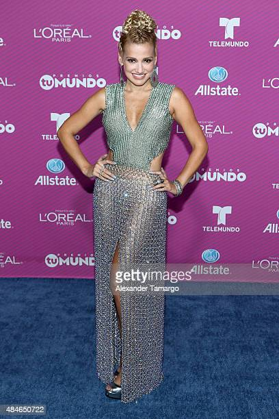 Fanny Lu arrives at Telemundo's 'Premios Tu Mundo Awards' at American Airlines Arena on August 20 2015 in Miami Florida