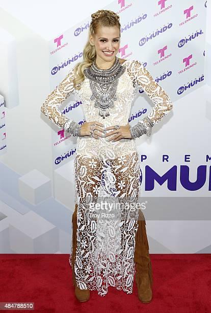 Fanny Lu attends Telemundo's 'Premios Tu Mundo Awards' 2015 at American Airlines Arena on August 20 2015 in Miami Florida