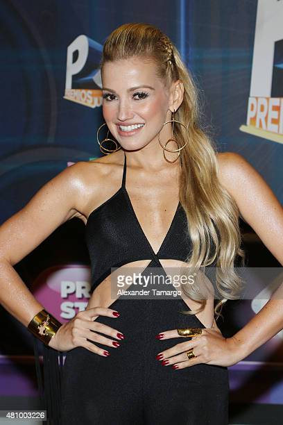 Fanny Lu is seen arriving at Univision's Premios Juventud 2015 at the Bank United Center on July 16 2015 in Miami Florida