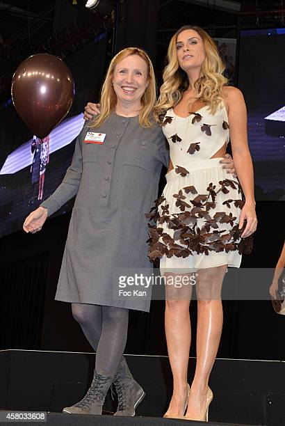Fanny Lyautard and Clara Morgane attend the 'Salon Du Chocolat Chocolate Fair 20th Anniversary' At the Parc des Expositions Porte de Versailles on...