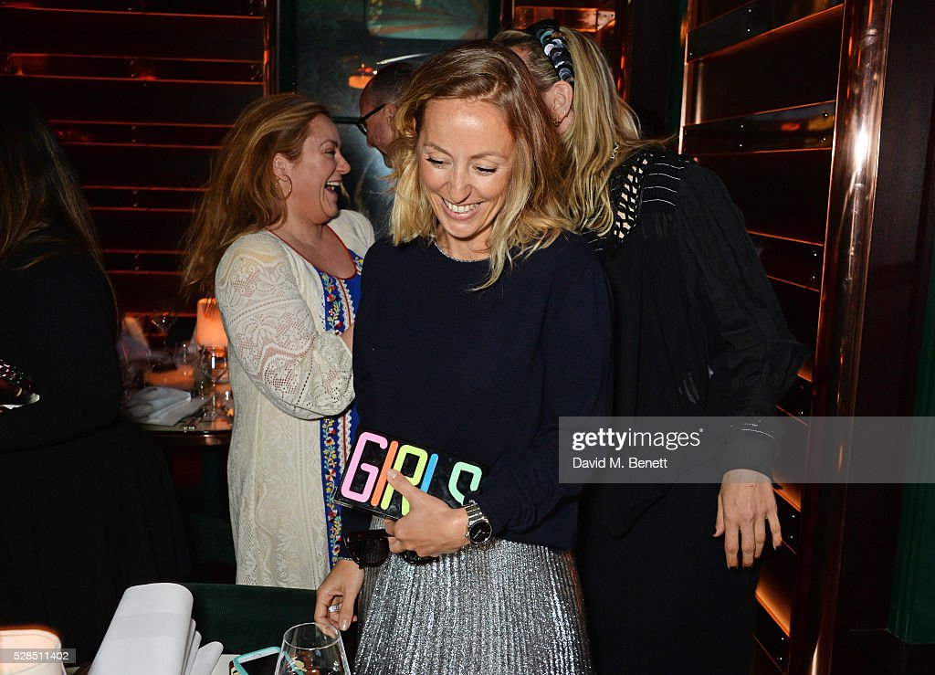Fanny Moizant (C) attends a private dinner hosted by Rodial founder Maria Hatzistefanis & Bay Garnett at Casa Cruz on May 5, 2016 in London, England.
