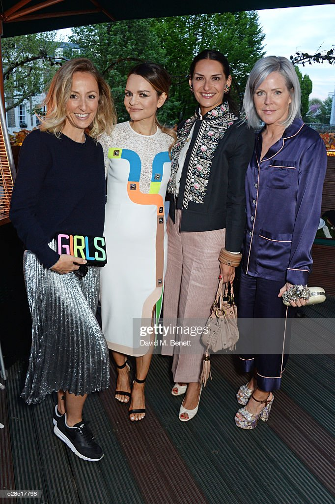 Fanny Moizant, Maria Hatzistefanis, Carmen Haid and Nan Richards attend a private dinner hosted by Rodial founder Maria Hatzistefanis & Bay Garnett at Casa Cruz on May 5, 2016 in London, England.