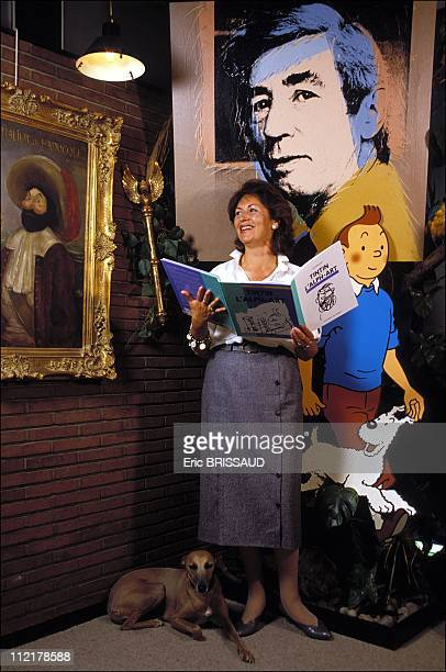 Fanny Rodwell second wife of Herge at Herge's studio on October 7 1986 in BrusselsBelguim