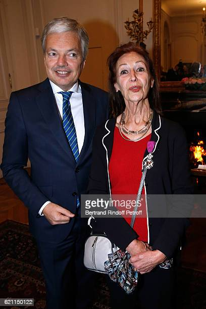 Fanny Rodwell second wife of Herge is decorated of the title of 'Chevalier de l'Ordre de Leopold' by Belgian Minister of Foreign Affairs and Deputy...