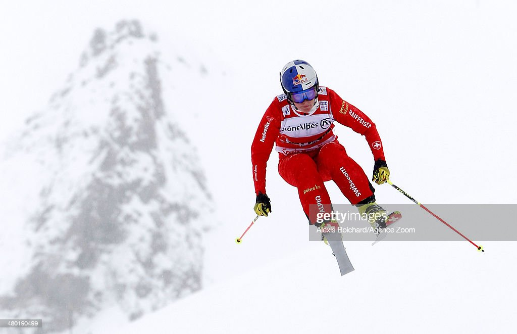 <a gi-track='captionPersonalityLinkClicked' href=/galleries/search?phrase=Fanny+Smith&family=editorial&specificpeople=6704843 ng-click='$event.stopPropagation()'>Fanny Smith</a> of Switzerland takes the 2nd place during the FIS Freestyle Ski World Cup Men's and Women's Ski Cross on March 23, 2014 in La Plagne, France.