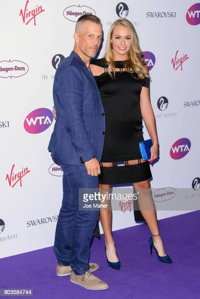 Fanny Stollar attends the WTA PreWimbledon party at Kensington Roof Gardens on June 29 2017 in London England