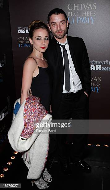 Fanny Touron and Guillaume Gouix attend the Cesar Film Awards 2012 Afterparty at L'Arc on February 24 2012 in Paris France