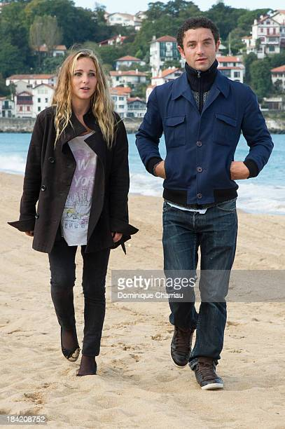 Fanny Touron and Guillaume Gouix attends a Photo Session during the 18th Young Directors International Festivalon October 12 2013 in Saint Jean de...