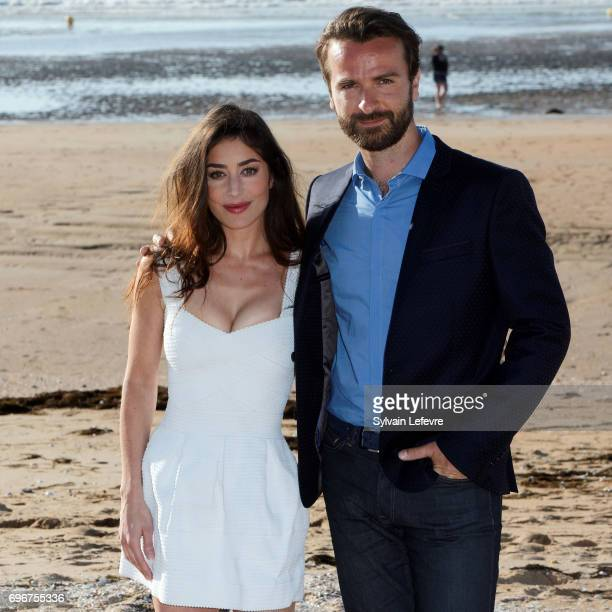 Fanny Valette and Amaury De Crayencour attend 'Passade' photocall during 3rd day of the 31st Cabourg Film Festival on June 16 2017 in Cabourg France