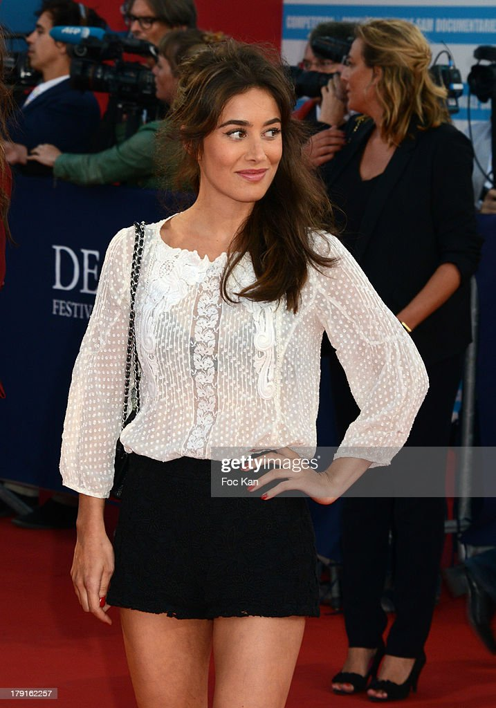 Fanny Valette attends the 'Blue Jasmine' Premiere at the 39th Deauville Film Festival at the CID on August 31, 2013 in Deauville, France.