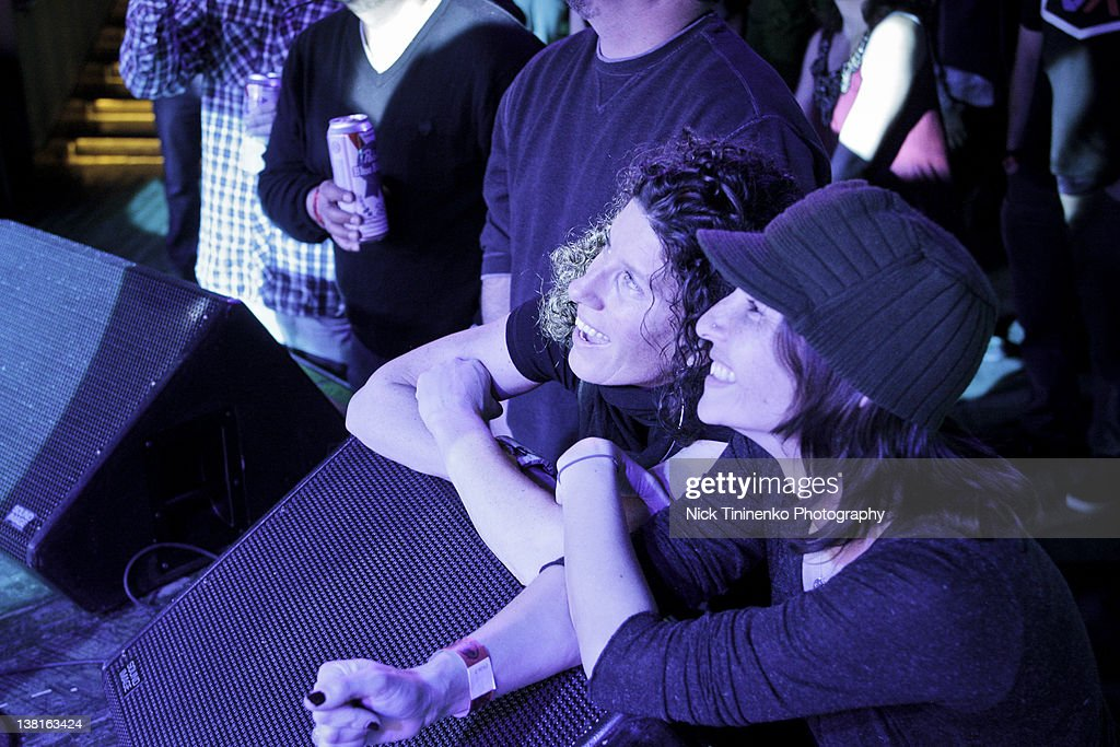 Fans admire Evan Dando of The Lemonheads on February 2, 2012 in Aspen, Colorado.