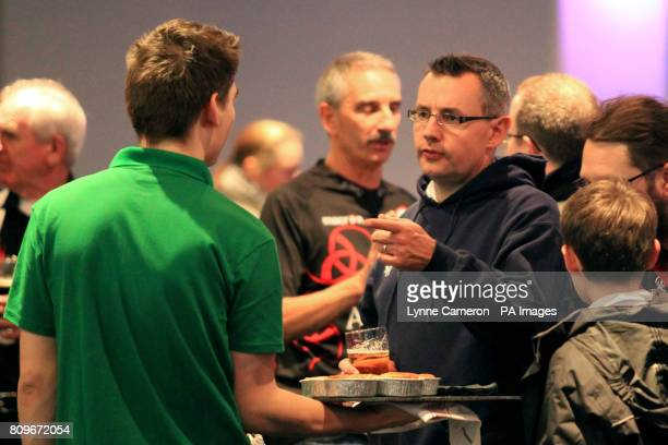 Fans are offered free pies in the Thistle Bar before kick off