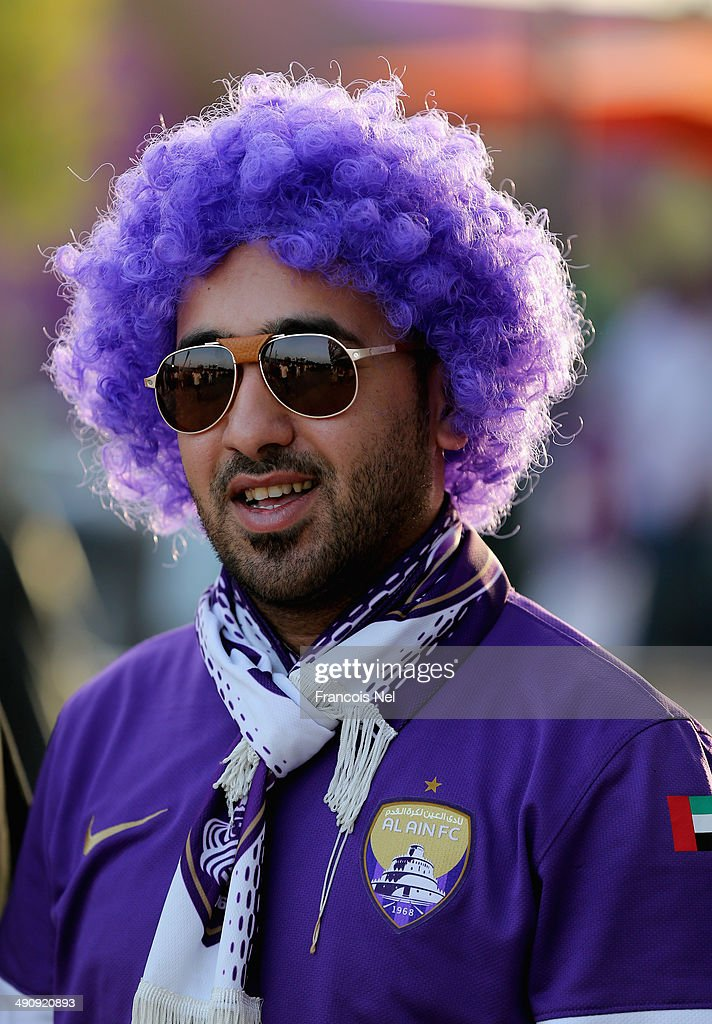 Fans are pictured ahead of the friendly match between Al Ain and Manchester City at Hazza bin Zayed Stadium on May 15, 2014 in Al Ain, United Arab Emirates.