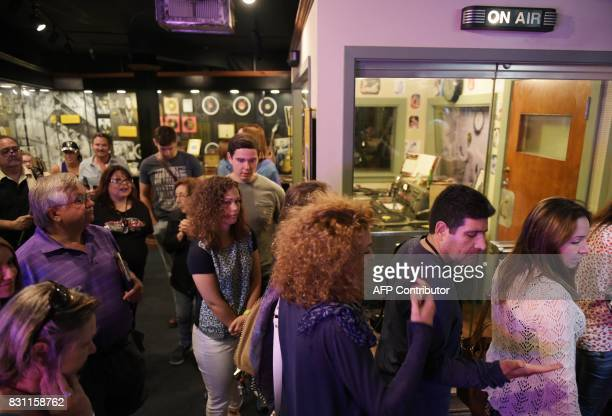 Fans are seen during a tour of Sun Studio where Elvis Presley made his first recordings on August 13 2017 in Memphis Tennessee Forty years after his...