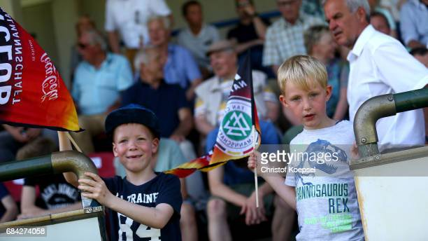 Fans are seen during the U15 girl's international friendly match between Germany and Netherlands at Getraenke Hoffmann Stadion on May 17 2017 in...