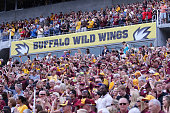 Fans are seen in the crowd during the Buffalo Wild Wings Citrus Bowl between the Minnesota Golden Gophers and the Missouri Tigers at the Florida...