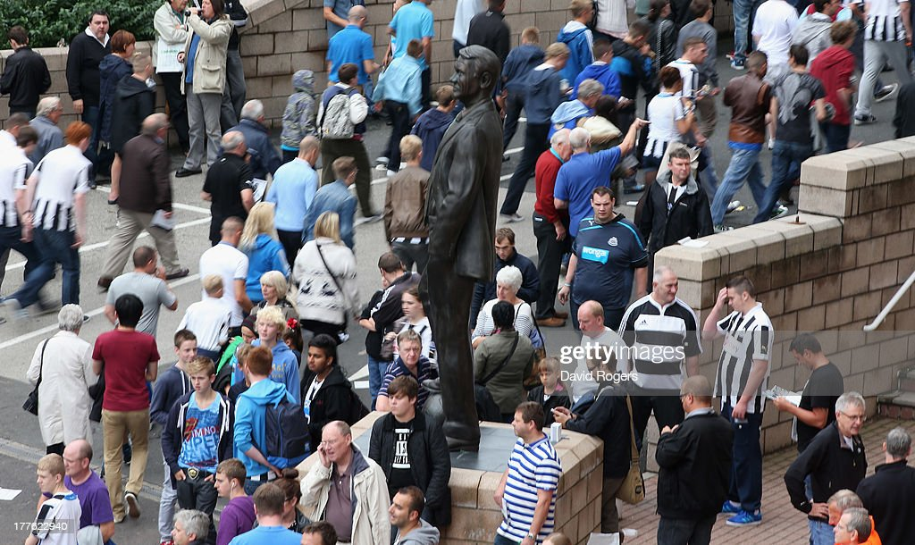 Fans arrive at St. James' Park prior to the Barclays Premier League match between Newcastle United and West Ham United at St James' Park on August 24, 2013 in Newcastle upon Tyne, England.