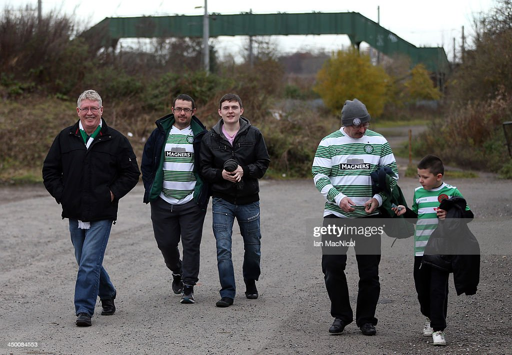 CARLISLE, ENGLAND - NOVEMBER 16 Fans arrive at the stadium during the Ebac Division One football match between Celtic Nation and Hebburn Town on November 16, 2013 at Gillford Park in Carlisle, England.
