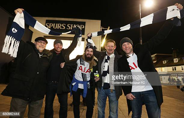 Fans arrive at the stadium prior to kickoff during the Premier League match between Tottenham Hotspur and Chelsea at White Hart Lane on January 4...