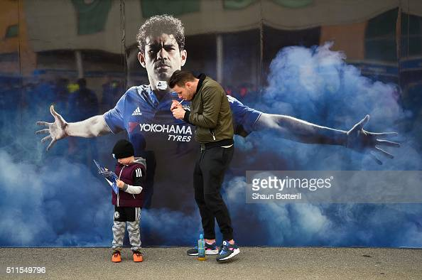 Fans arrive before the Emirates FA Cup Fifth Round match between Chelsea and Manchester City at Stamford Bridge on February 21 2016 in London England